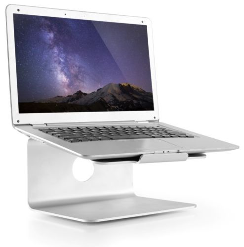 Aluminium 360 Desktop Riser Stand for Macbook iPad Air Pro and 11-17 Laptops