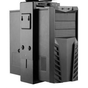 Adjustable Under Desk or Wall Desktop PC CPU Mount 360 Degree Swivel-Save Space