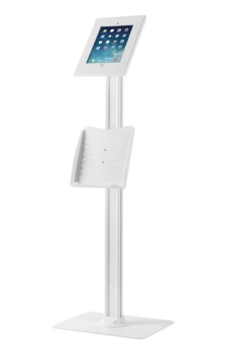 Anti-theft Floor Stand Catalogue Holder For iPad 2/3/4/Air/Air2/Pro 9.7 White
