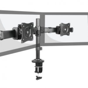 Dual LCD Mount Articulating Multi-screen Desk Mount 13-27 Tilt Swivel Rotate