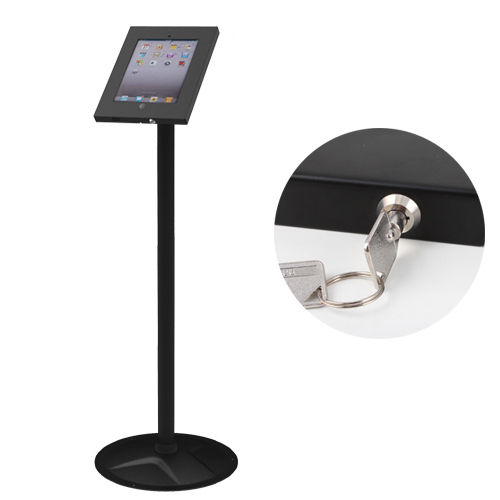 iPad 2 3 4 Air Anti Theft Secure Floor Stand Lockable Exhibition Display Mount